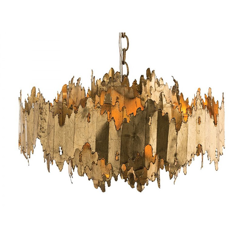 arteriors home lighting payne chandelier gold leaf