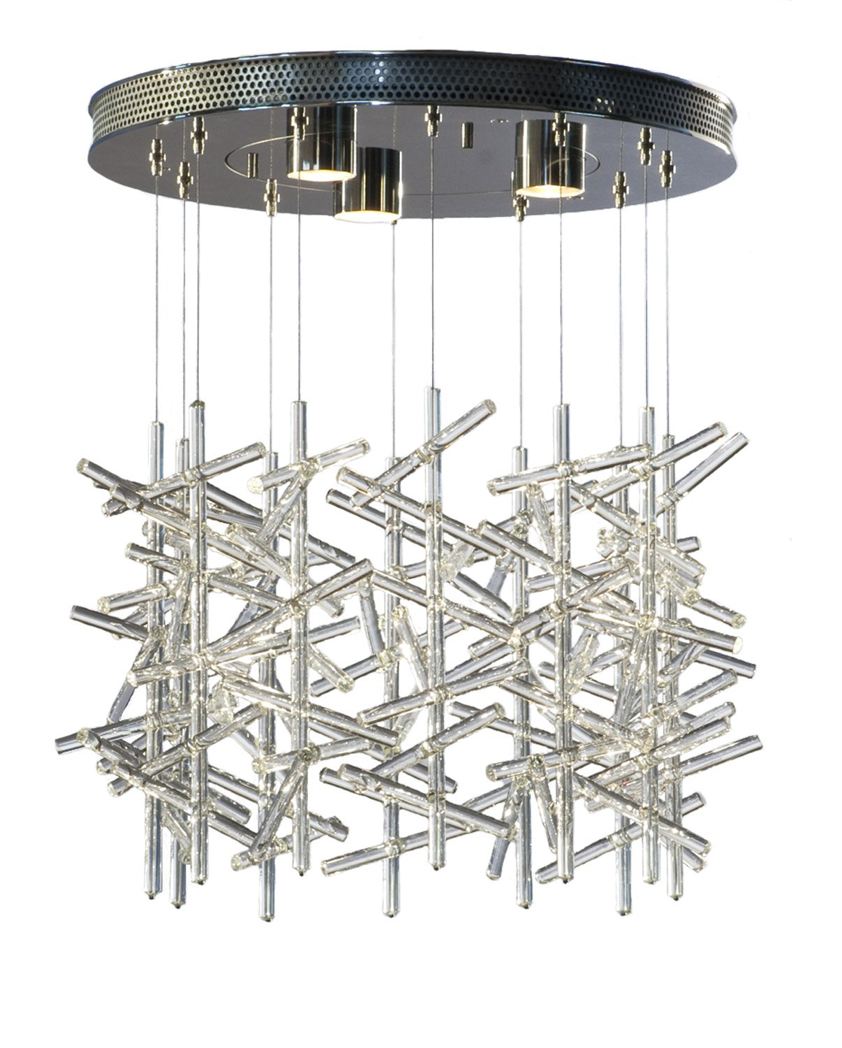charles loomis lighting stix ceiling mount chandelier