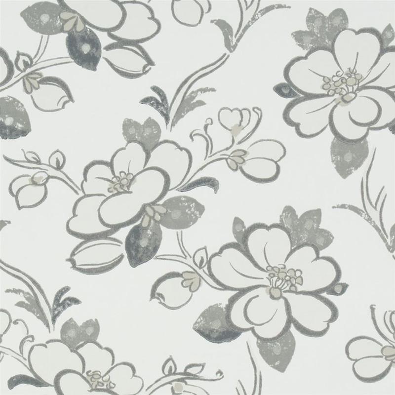 P57103 Lotus Flower Slate Designers Guild Wallpaper Designers