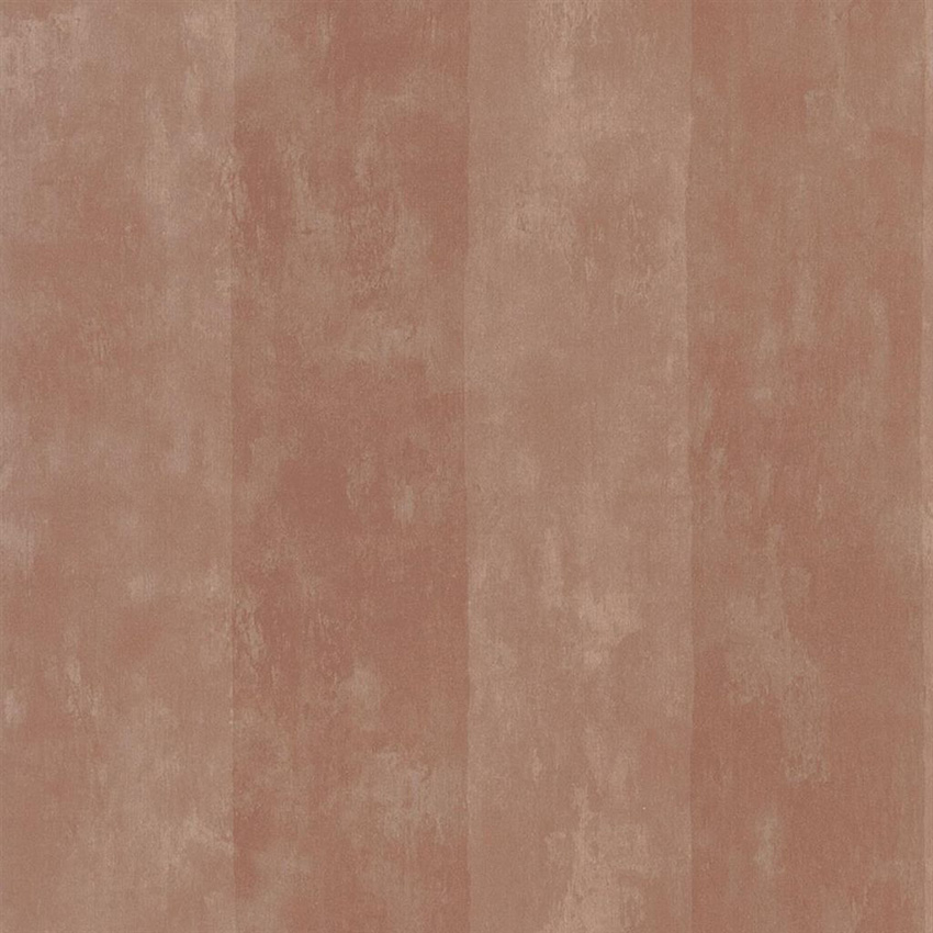 PDG720/06 Parchment Stripe - Burnished Copper - Designers Guild Wallpaper