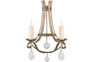 Irina 2 Light Sconce w/Rock Crystals
