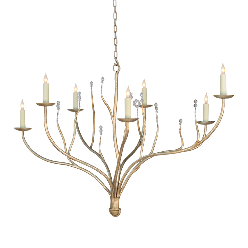ironware international lighting ondine 7 light chandelier