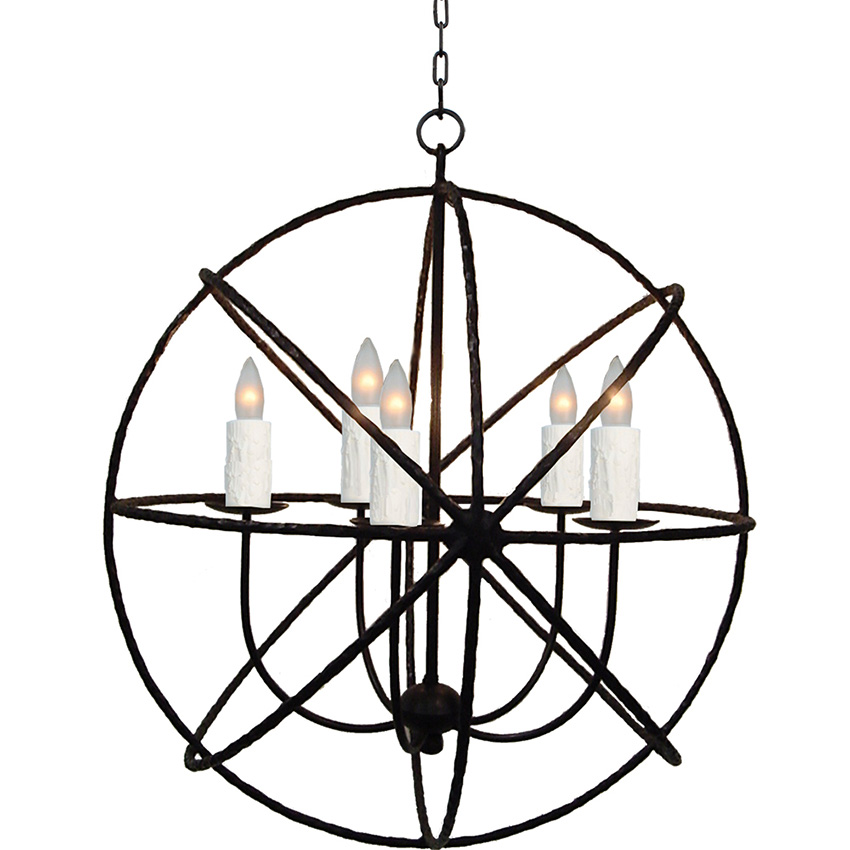 ironware international lighting cassiopeia 5 light chandelier