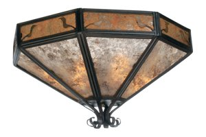 Mica 3 Light Ceiling Mount