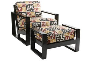 French Art Deco Ottoman – Small