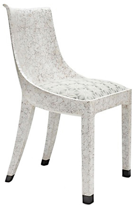 Eggshell Crackle Dining Chair