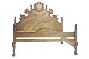 Carved Italian Bed – Queen