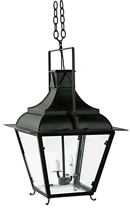 French Tole Lantern - 2 Light