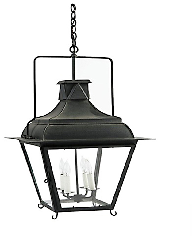 French Tole Lantern - 4 Light