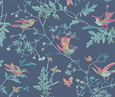 100/14068.CS Hummingbirds – Indigo Multi-Colour – Cole & Son Wallpaper