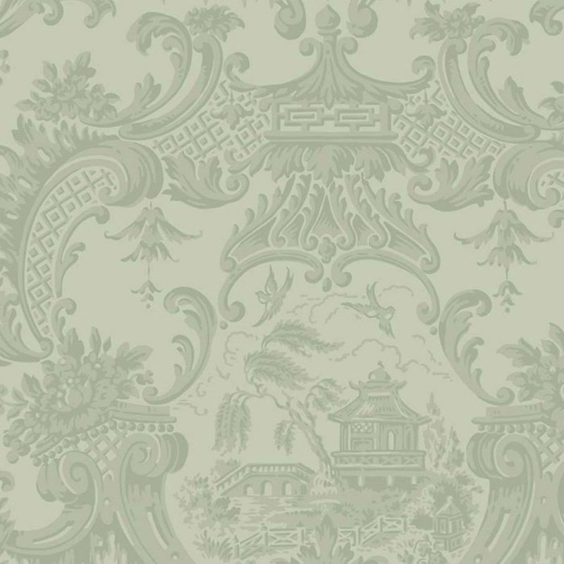 100/3013.CS Chippendale China - Olive - Cole & Son Wallpaper