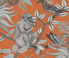 Cole and Son Savuti Orange Wallpaper 109/1001.CS.0