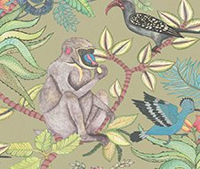Cole and Son Savuti Khaki Multi Wallpaper 109/1005.CS.0