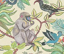 Cole and Son Savuti Cream Multi Wallpaper 109/1007.CS.0