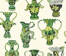 109/12056.CS Khulu Vases – Green & White – Cole & Son Wallcovering