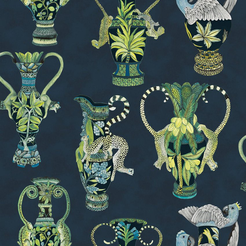 109/12058.CS Khulu Vases - Midnight - Cole & Son Wallcovering