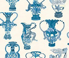 109/12059.CS Khulu Vases – Blue & White – Cole & Son Wallcovering