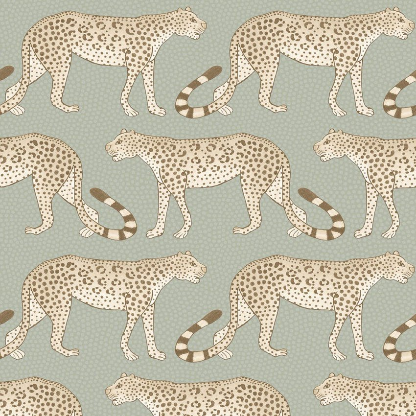 109/2009.CS Leopard Walk - Olive & White - Cole & Son Wallcovering