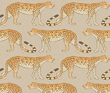 109/2010.CS Leopard Walk – Stone & Orange – Cole & Son Wallcovering