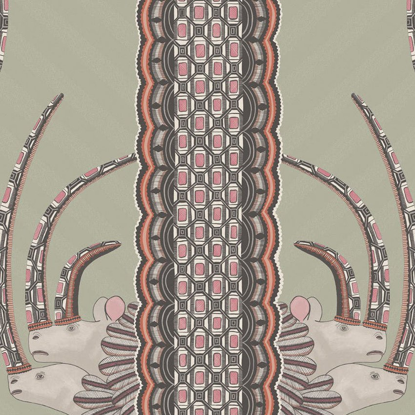 109/3017.CS Jabu - Olive & Pink - Cole & Son Wallcovering