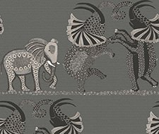 109/8039.CS Safari Dance – Charcoal Black & White – Cole & Son Wallcovering