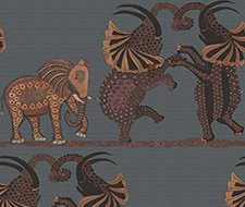 109/8040.CS Safari Dance – Charcoal & Reds – Cole & Son Wallcovering