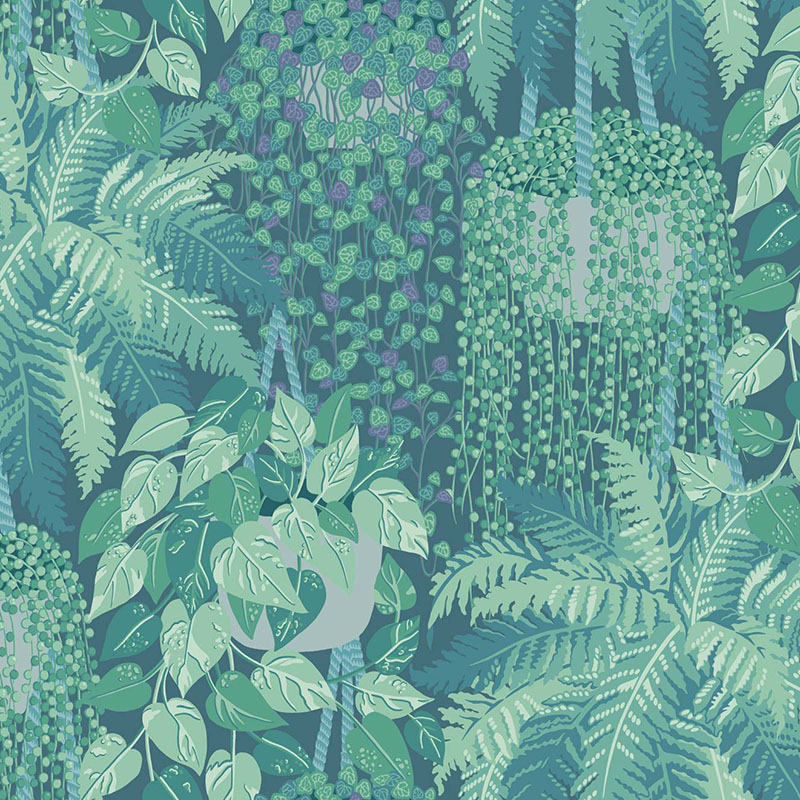 115/7022.CS Fern - Viridian And Teal - Cole & Son Wallpaper