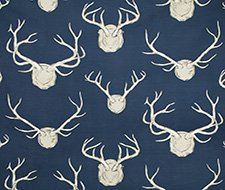 P2017102.50 Antlers Paper – Navy – Lee Jofa Wallpaper