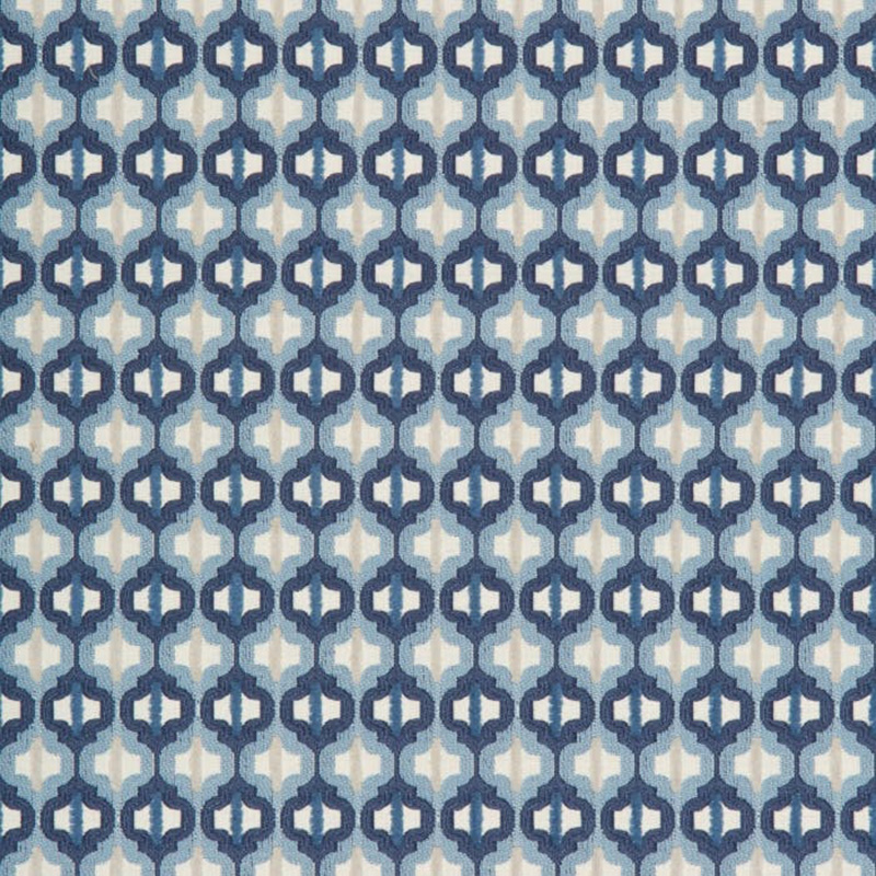 34794.5 Turned Out Tile - Marine - Kravet Couture Fabric