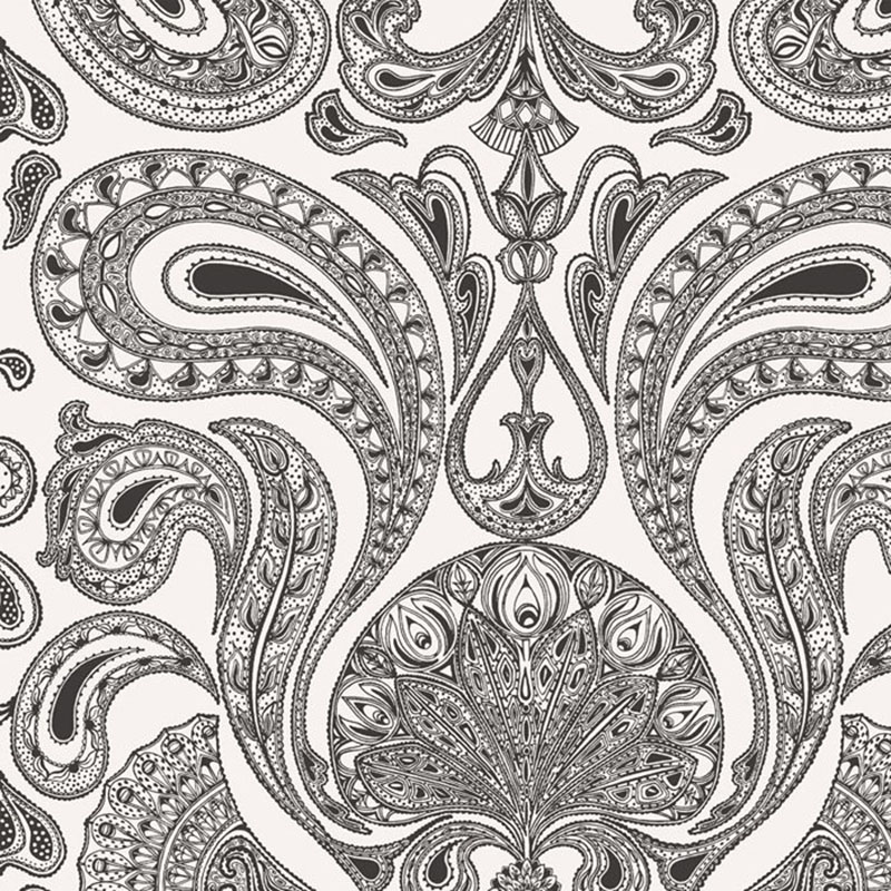 66/1004.CS Malabar - White/B - Cole & Son Wallpaper