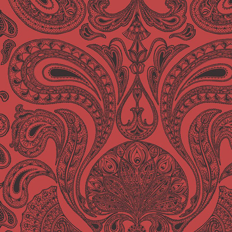 66/1008.CS Malabar - Red/Bla - Cole & Son Wallpaper