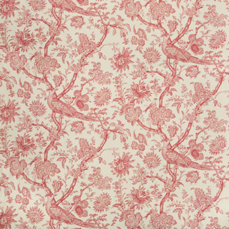 8018122.19 Cevennes Print - Red - Brunschwig & Fils Fabric