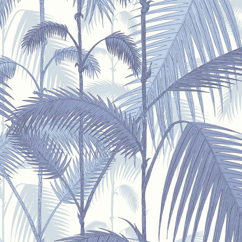 95/1005.CS Palm Jungle - Blues/ White - Cole & Son Wallpaper