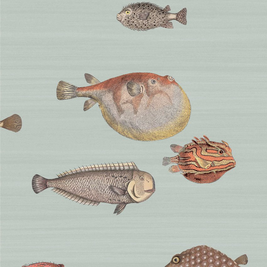 97/10030.CS Acquario - Pal Bl & Mlt - Cole & Son Wallcovering