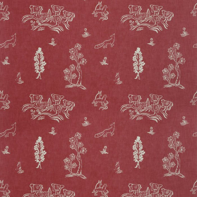 Am100318.19.0 Friendly Folk - Huntsman Red - Kravet Couture Fabric