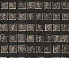 AMW10045.816 Penny Post – Charcoal – Kravet Couture Wallcovering