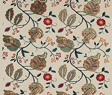 BF10531.4 Calthorpe – Red/Olive/Teal – 4 – G P & J Baker Fabric