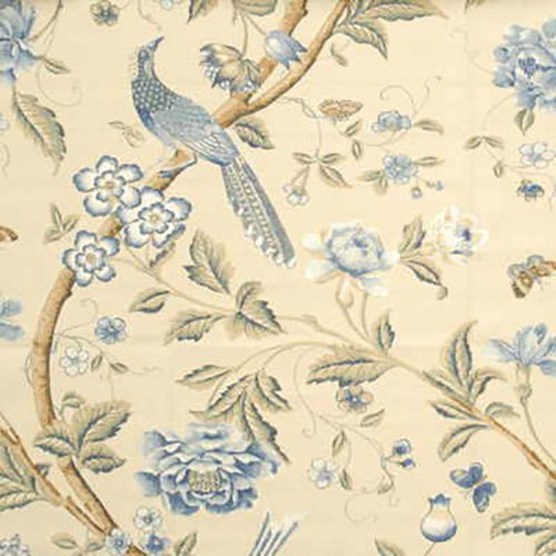 BP10017.3 Elinor'S Chinese - Blue - 3 - G P & J Baker Fabric