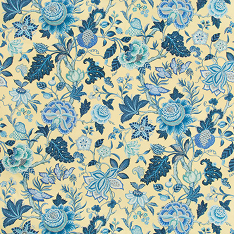 BR-79329.40 Nizam Cotton Print - Canary - Brunschwig & Fils Fabric