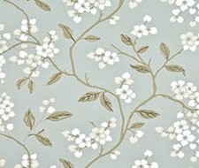 BW45039.2 Apple Blossom – Aqua/Gilver – 2 – G P & J Baker Wallpaper