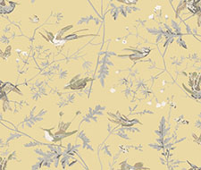 F111/1001.CS Hummingbirds – Yellow & Grey – Cole & Son Fabric