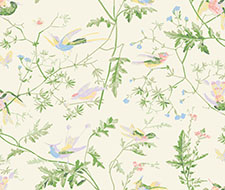 F111/1002.CS Hummingbirds – Cream & Soft Multi – Cole & Son Fabric