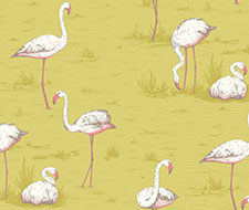 F111/3008.CS Flamingos – Ochre – Cole & Son Fabric