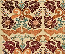 FD690.V148 Constantine Silk/Linen – Paprika/Red – V148 – Mulberry Home Fabric
