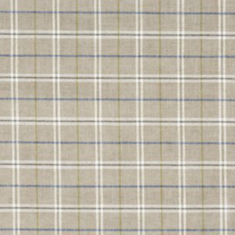 FD744.A101 Haddon Check - Woodsmoke - Mulberry Home Fabric