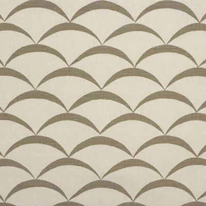 GWF-2618.111 Crescent - White/Taupe - 111 - Groundworks Fabric