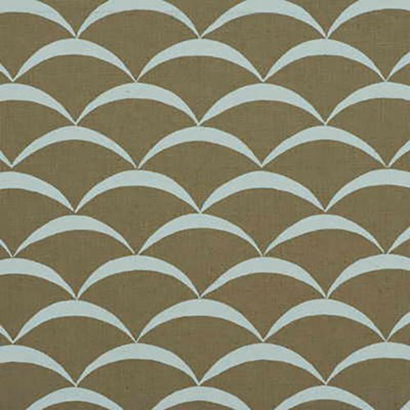 GWF-2618.165 Crescent - Sand/Aqua - 165 - Groundworks Fabric