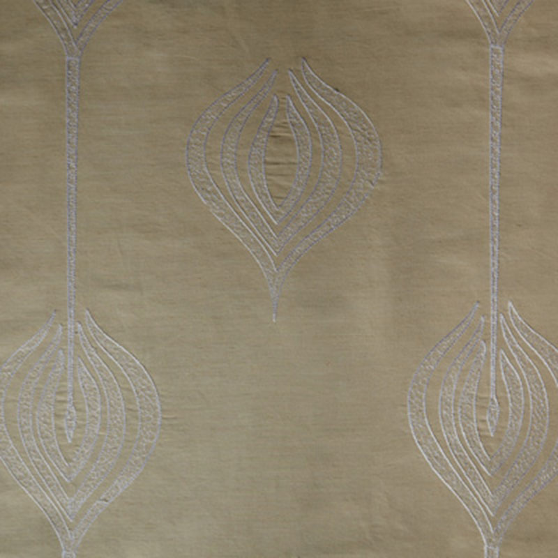 GWF-2928.16 Tulip Embroidery - Cream - Groundworks Fabric