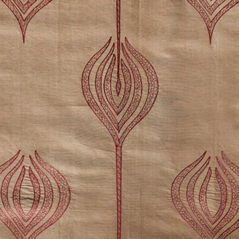 GWF-2928.22 Tulip Embroidery - Rust - Groundworks Fabric