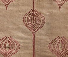 GWF-2928.22 Tulip Embroidery – Rust – Groundworks Fabric